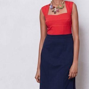 Anthropologie Colorblock Ponte Dress- Excellent!